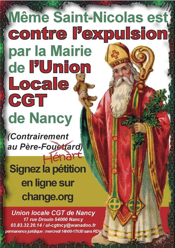 Collage De L Autocollant De La St Nicolas Union Locale Cgt Nancy